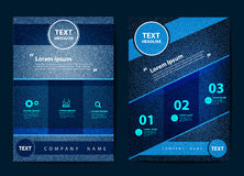 Vector business brochure flyer design of jeans background Stock Images