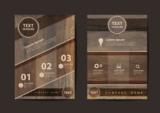 Vector business brochure flyer design layout template in A4 size Stock Images