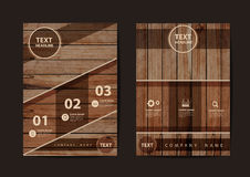 Vector Business brochure flyer design texture of wood background Royalty Free Stock Image