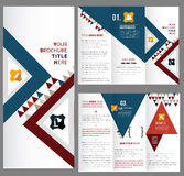 Vector business brochure. Flyer template Royalty Free Stock Images
