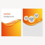 Vector business brochure, flyer template Stock Images