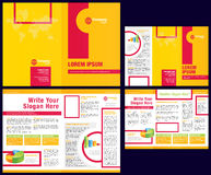 Vector Business Brochure + Tri Fold Flyer Template Royalty Free Stock Image