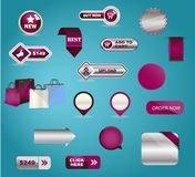 Vector business buttons mega-pack. You can use it Royalty Free Stock Photos
