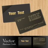 Vector business card. S,front & back Royalty Free Stock Photos