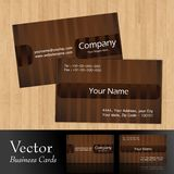 Vector business card. S,front & back Stock Photography