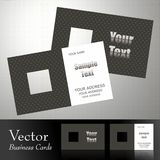 Vector business card. S,front & back Royalty Free Stock Image