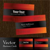 Vector business card. S,front & back Stock Photo