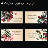 Vector business card Royalty Free Stock Image