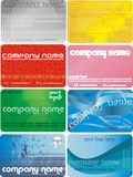 Vector business card. Many themes Royalty Free Stock Image