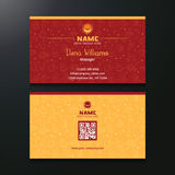 Vector Business Card Both Side Royalty Free Stock Photo