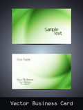 Vector business card design Stock Image