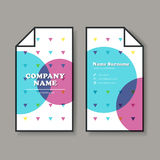 Vector business card design template Royalty Free Stock Image