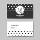 Vector business card design template of classic black Stock Images