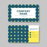Vector business card design template of geometry Royalty Free Stock Images