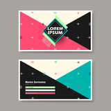 Vector business card design template of geometry. Vector abstract creative business card design template of geometry Stock Photography