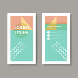 Vector business card design template of geometry Royalty Free Stock Photo