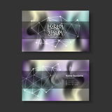 Vector business card design template of modern Stock Images