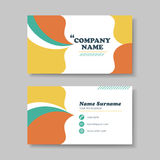 Vector business card design template of orange Royalty Free Stock Photos
