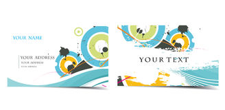Vector business card set Royalty Free Stock Images