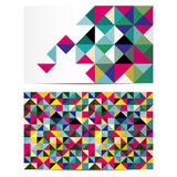 Vector business card set Royalty Free Stock Photo