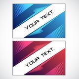 Vector business card set. Royalty Free Stock Photos