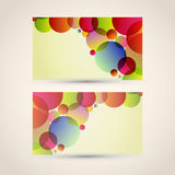 Vector Business Card set. Business card with abstract background. Vector illustration vector illustration