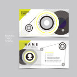 Vector business card set with design sense Stock Photo