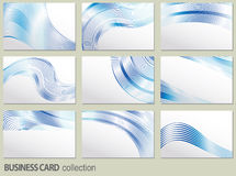 Vector business card set, elements for design. Royalty Free Stock Photography