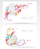 Vector business card set with floral elements Royalty Free Stock Photography