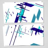 Vector business-card set for your design Stock Images