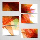 Vector business-card set for your design Stock Image