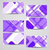 Vector business-card set for your design Royalty Free Stock Photos