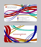 Vector business card set for your design Stock Photography