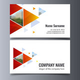 Vector business card template. Creative corporate identity layout. Stock Photo