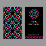 Vector business card template. Ethnic tribal ornaments with mandala patterns. Boho style Stock Images