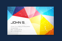 Vector business card template. Globe and ring logo Stock Photo