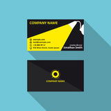 Vector business card template with light concept. Corporae logo, visit and phone number, address. 90x50 proportions. Business card template with light concept Stock Photography