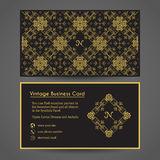 Vector Business Card Template Royalty Free Stock Images