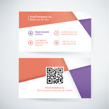 Vector business card template. Stock Photo