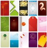 Vector Business Card Templates. 15 vertical Vector Business Card Templates vector illustration