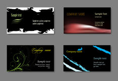 Vector business card templates. Black vector business card template Stock Photos