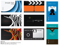 8 Vector Business Card Templates. Collection of 8 vector corporate business card templates design in horizontal and vertical design Royalty Free Stock Images