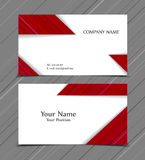 Vector business card. Templates. Modern design for corporate ID. Eps10 illustration Stock Image