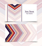Vector business card. Templates. Modern design for corporate ID. Eps10 illustration Stock Photography