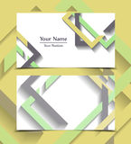 Vector business card. Templates. Modern design for corporate ID. Eps10 illustration Stock Images