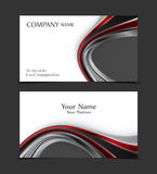 Vector business card. Templates. Modern design for corporate ID. Eps10 illustration Royalty Free Stock Photos