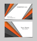 Vector business card. Templates. Modern design for corporate ID. Eps10 illustration Royalty Free Stock Photo