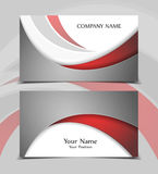 Vector business card. Templates. Modern design for corporate ID. Eps10 illustration Royalty Free Stock Images