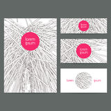 Vector business card templates. Royalty Free Stock Photos