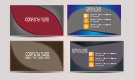 Vector Business Card Templates set Stock Photography